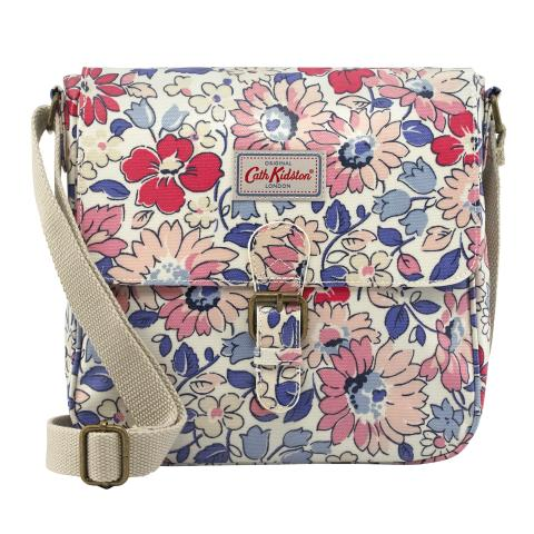 MINI SATCHEL O/C LARGE WELHAM FLOWERS STONE MULTI