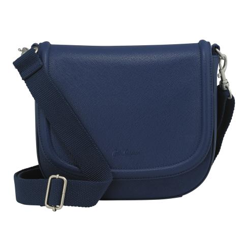 PLAIN CURVED SADDLE BAG NAVY