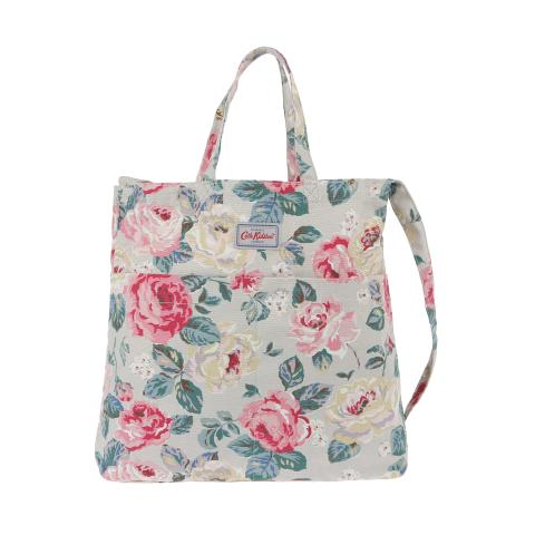 DOUBLE HANDLE COTTON BAG Forest Rose Taupe