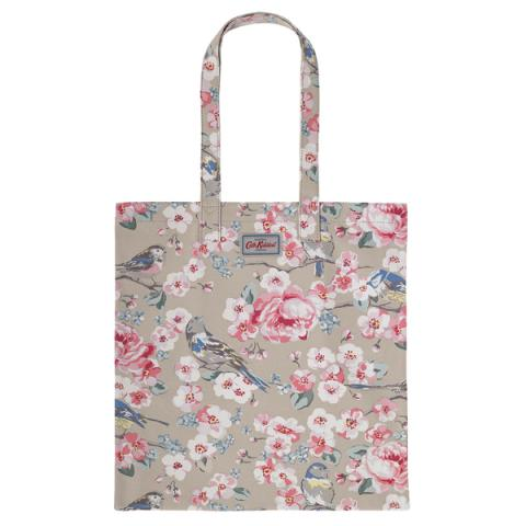 BOOK BAG COTTON MEADOWFIELD BIRDS FAWN