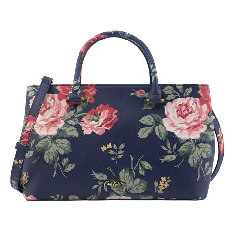 THE THISTLETON SMALL TOTE ANTIQUE ROSE NAVY