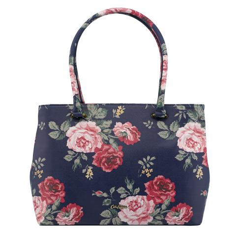 THE THISTLETON LARGE TOTE ANTIQUE ROSE NAVY