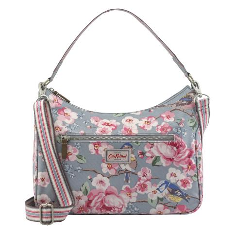 CURVE SHOULDER BAG MEADOWFIELD BIRDS SEAFOAM BLUE
