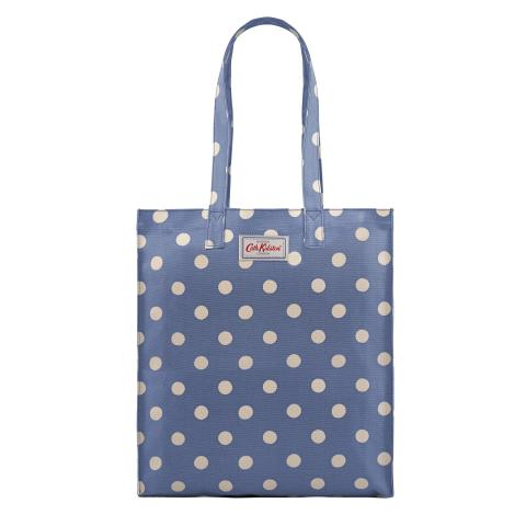 BOOK BAG O/C BUTTON SPOT PERIWINKLE