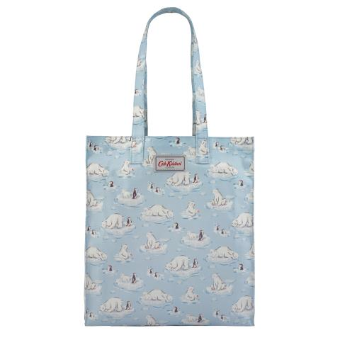 BOOK BAG O/C SMALL POLAR BEAR ICE BLUE
