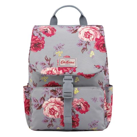 BUCKLE BACKPACK ANTIQUE ROSE SEAFOAM BLUE
