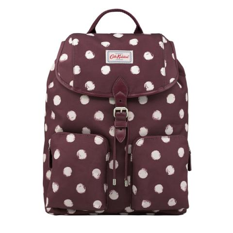 DUFFLE BACKPACK SMUDGE SPOT MAROON