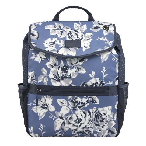LEISURE BACKPACK ETCHED FLORAL PERIWINKLE