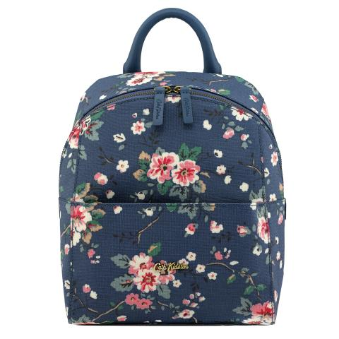 SMART ZIPPED BACKPACK TRAILING ROSE MID BLUE