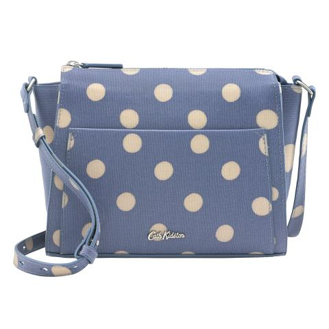 POCKET CROSS BODY BUTTON SPOT PERIWINKLE