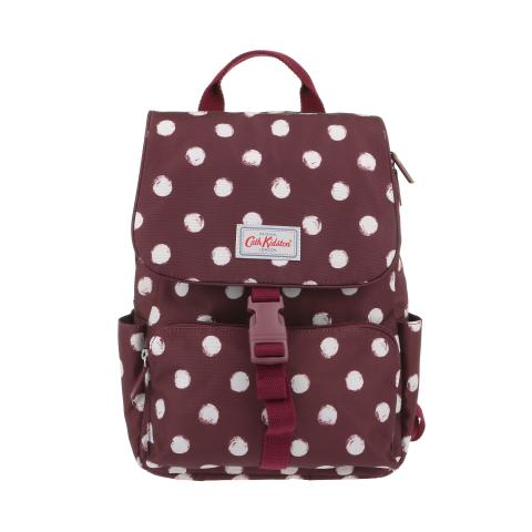 BUCKLE BACKPACK SMUDGE SPOT MAROON