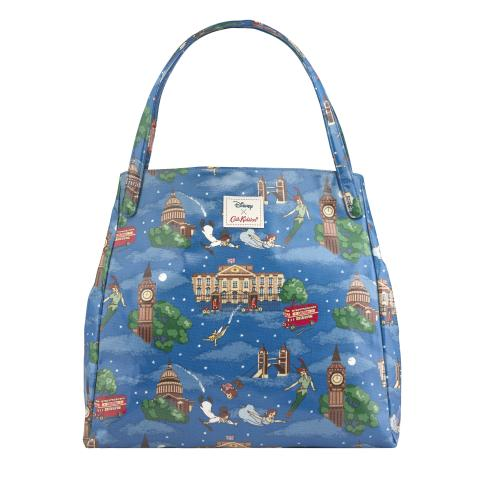 DISNEY SHOULDER TOTE PETER PAN IN LONDON MID BLUE