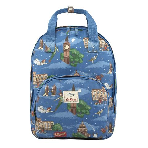 DISNEY MULTI POCKET BACKPACK PETER PAN IN LONDON MID BLUE