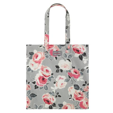COTTON BOOKBAG PAPER ROSE DOVE GREY