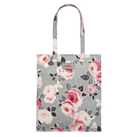 TALL ZIPPED SHOPPER PAPER ROSE DOVE GREY