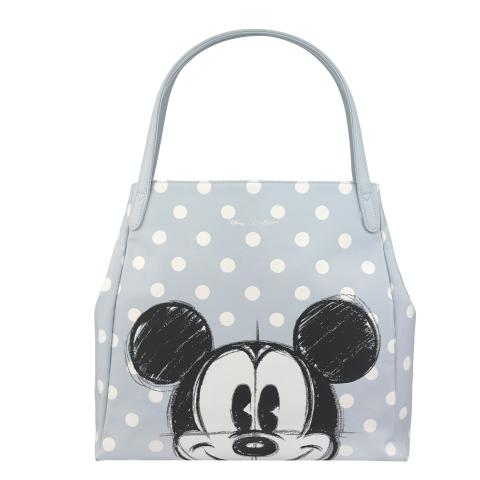 Disney Shoulder Tote - PU Mickey & Friends Placement Light Grey