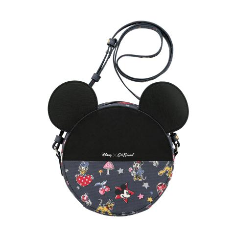 Mickey Round Bag Mickey & Minnie Little Patches Slate Grey