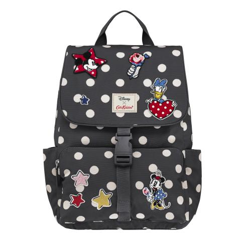 Disney Patches Buckle Backpack Button Spot Charcoal