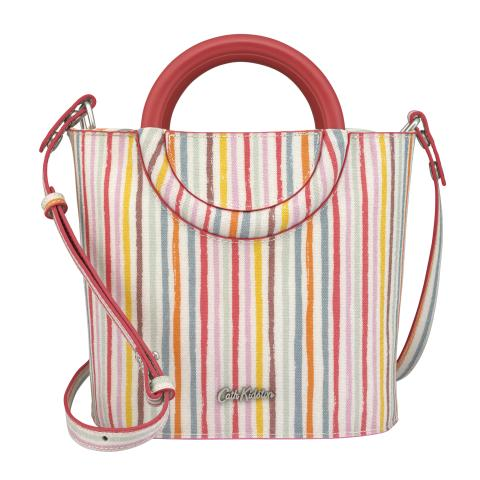 MINI GRAB BUCKET BAG TRESCO STRIPE STONE MULTI