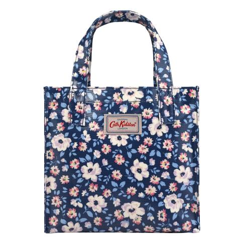 SMALL BOOKBAG O/C ISLAND FLOWERS NAVY
