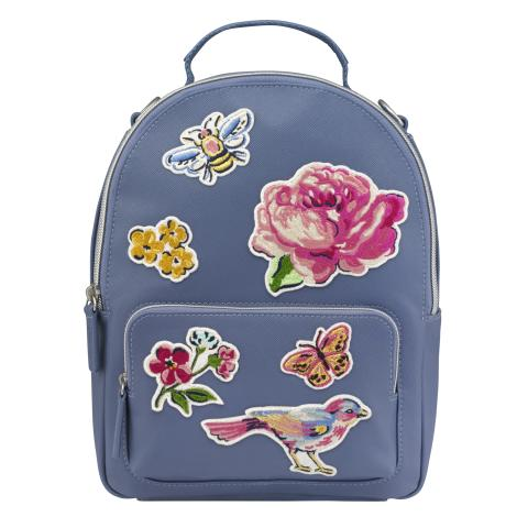 PATCHES MINI CROSS BODY BACKPACK SOLID PERIWINKLE