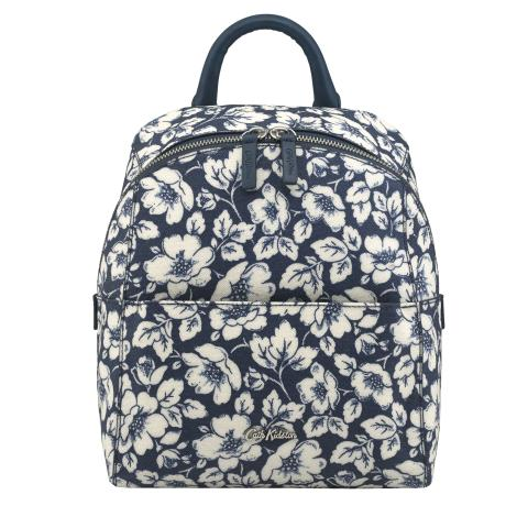 SMART ZIPPED BACKPACK DIDWORTH FLOWERS NAVY