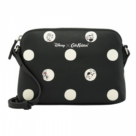 DISNEY SLIM LEATHER X BODY PUPPY SPOT BLACK