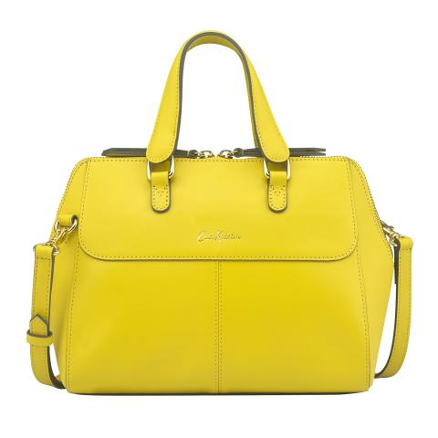 THE HENSHALL LEATHER BAG SOLID GOLDEN YELLOW