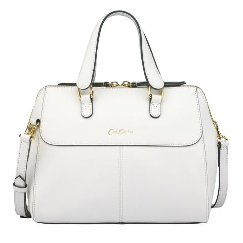 THE HENSHALL LEATHER BAG SOLID WHITE