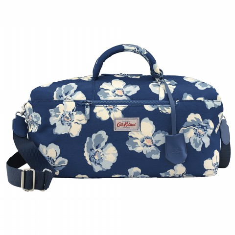 TRAVEL HOLDALL SCATTERED ANEMONE NAVY
