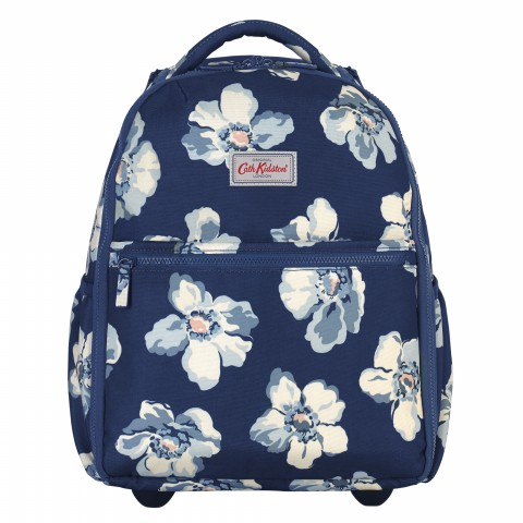 CABIN WHEELED BACKPACK SCATTERED ANEMONE NAVY