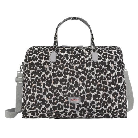 TRAVEL BAG LEOPARD FLOWER GREY