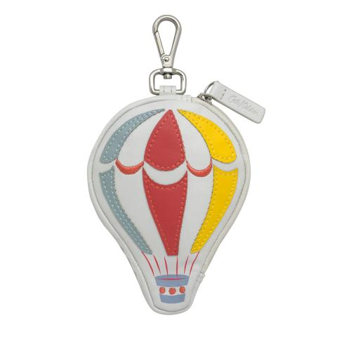 HOT AIR BALLOON FOLDAWAY BAG CHARM DUSTY BLUE