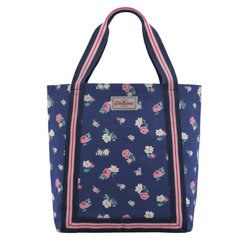 REVERSE COATED TOTE HAMPSTEAD DITSY NAVY