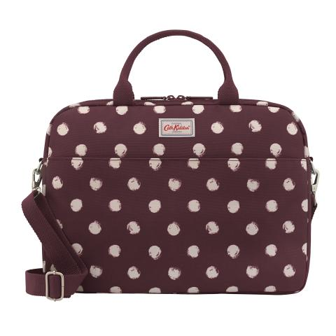 LAPTOP BAG SMUDGE SPOT MAROON