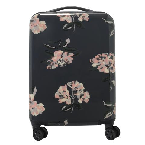 HARD SHELL CABIN SUITCASE SPRING BLOOM SCATTERED GRAPHITE GREY
