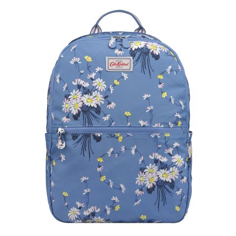 FOLDAWAY BACKPACK DAISIES & BUTTERCUPS RIVIERA BLUE