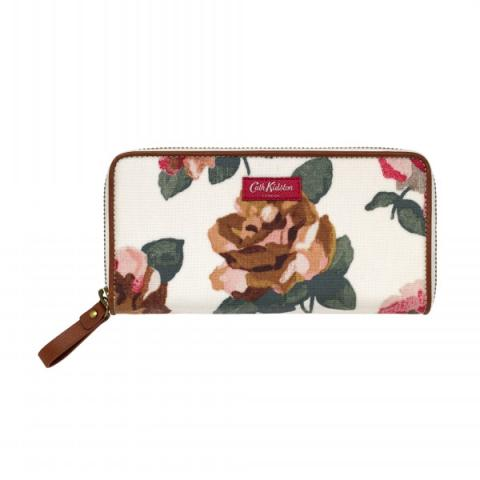 CONTINENTAL ZIP WALLET CHISWICK ROSE