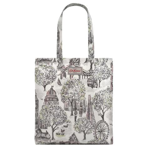 LONDON TOILE MONO BOOKBAG W/ GUSSET - OC