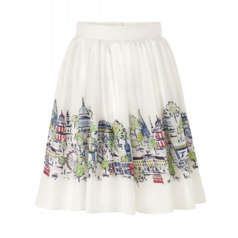 LONDON VIEW GATHERED SKIRT
