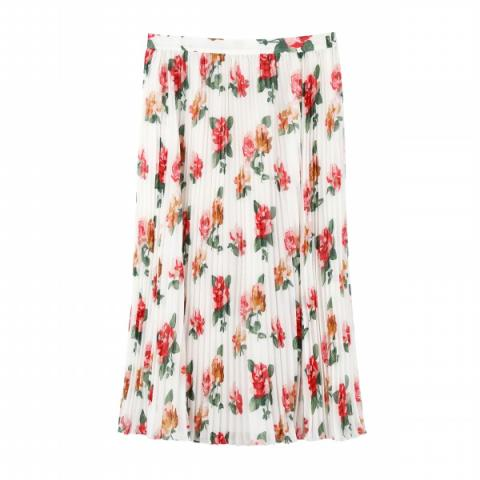 CHISWICK ROSE PLEATED SKIRT