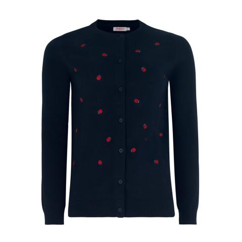 LADYBIRD EMBROIDERED CARDIGAN