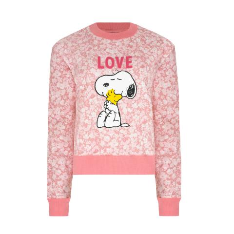SNOOPY PINK CROPPED SWEATSHIRT
