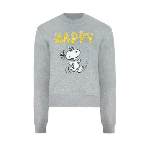 SNOOPY GREY CROPPED SWEATSHIRT