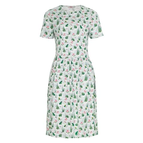 BATHING FROGS JERSEY DRESS