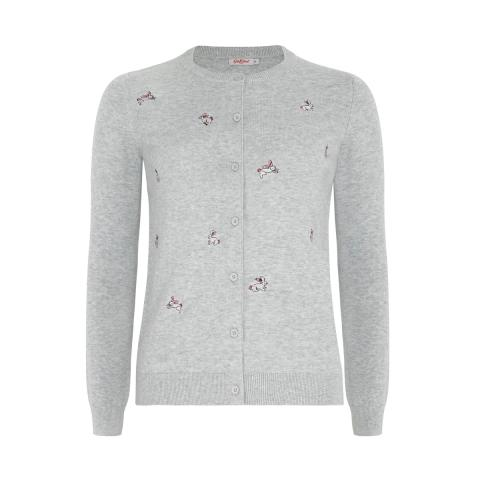 BUNNIES EMBROIDERED CARDIGAN S