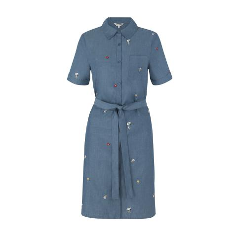 DRESS SNOOPY KINGSWOOD SHIRT DRESS