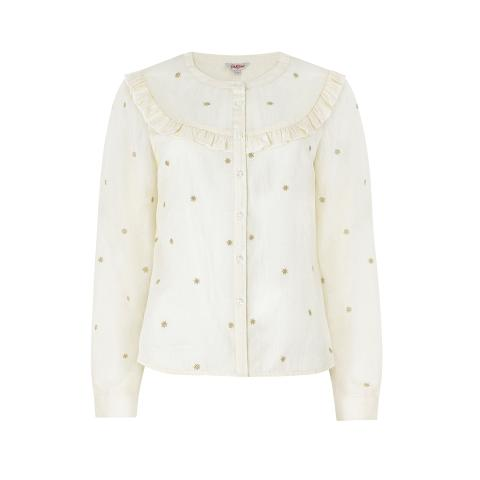 Frill Button Through Blouse Shooting Stars