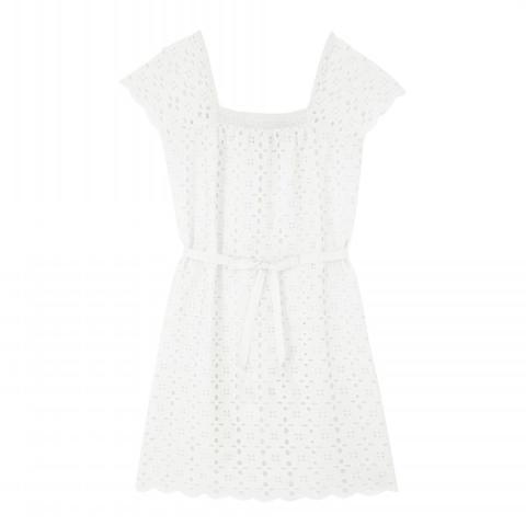 OFF WHITE BRODERIE DRESS UK