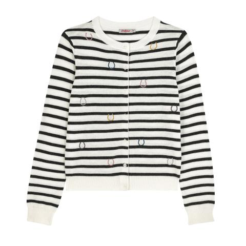 HORSESHOE STRIPE CARDIGAN